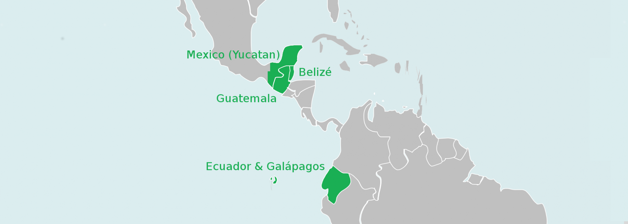 Unsere Route in Süd- und Mittelamerika
