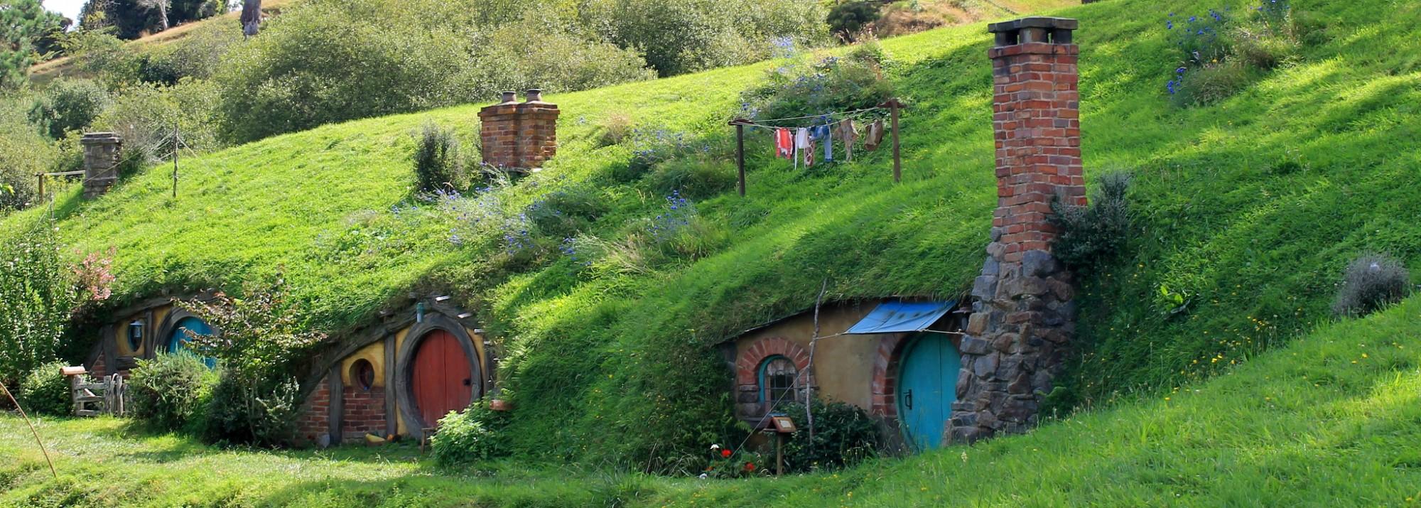 Hobbiton: Hobbit Reihenhäuser