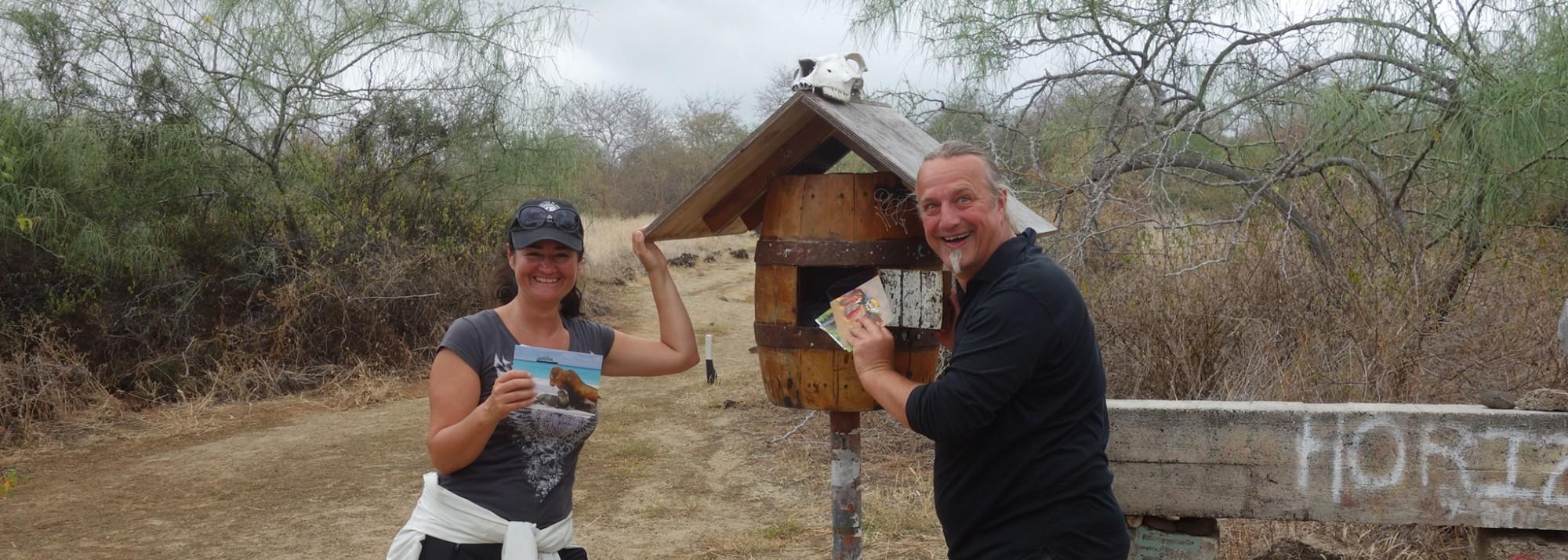 Galápagos, Floreana, Post-Office-Bay