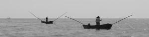 Fischer in ihren kleinen Nußschalen mitten im Golf von Mexiko.