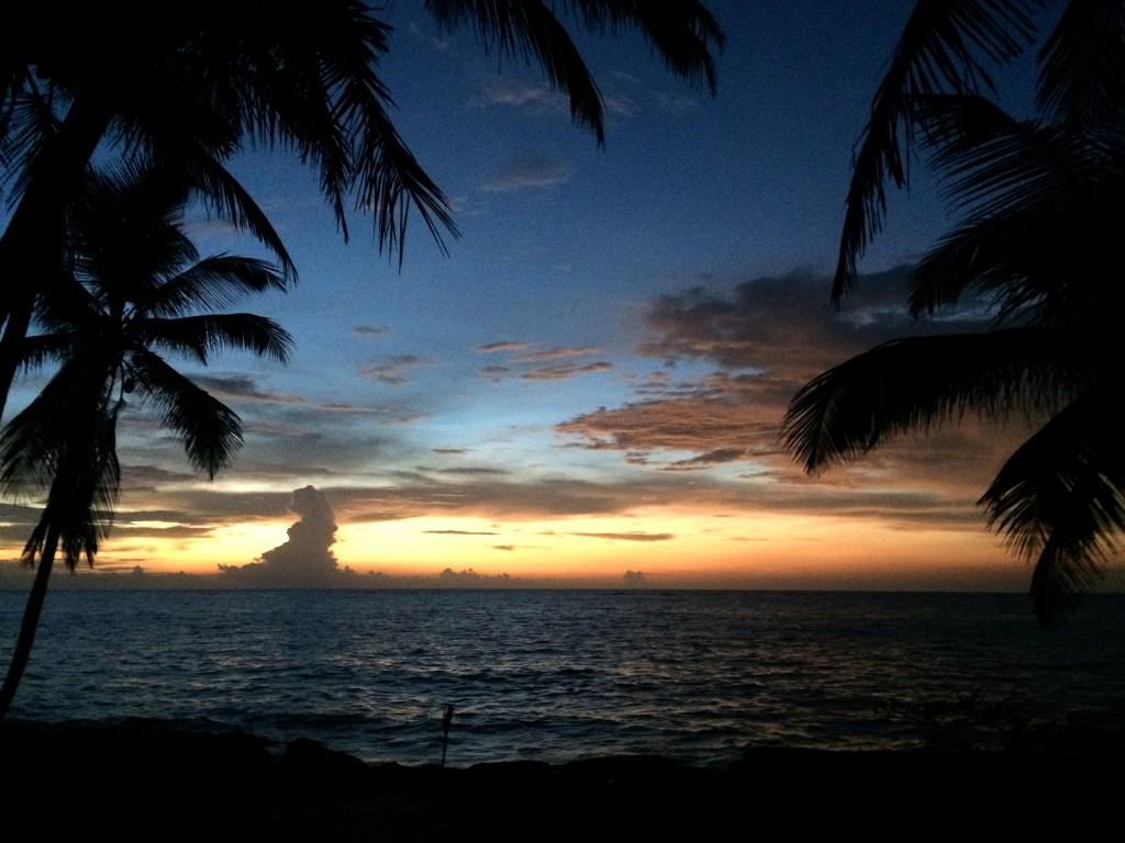 Mexiko, Tulum, Eco-Lodge Diamante K: Auch dieser Tag begrüßte uns wieder mit einem fantastischen Sonnenaufgang